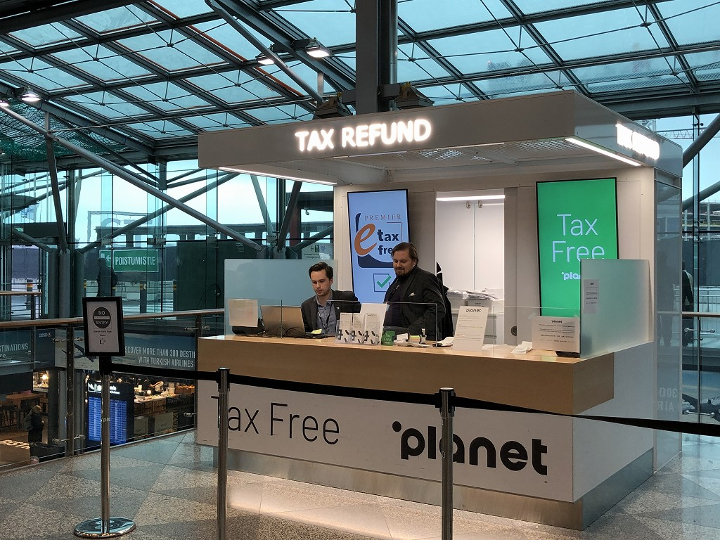 ヘルシンキヴァンター空港のタックスリファンド