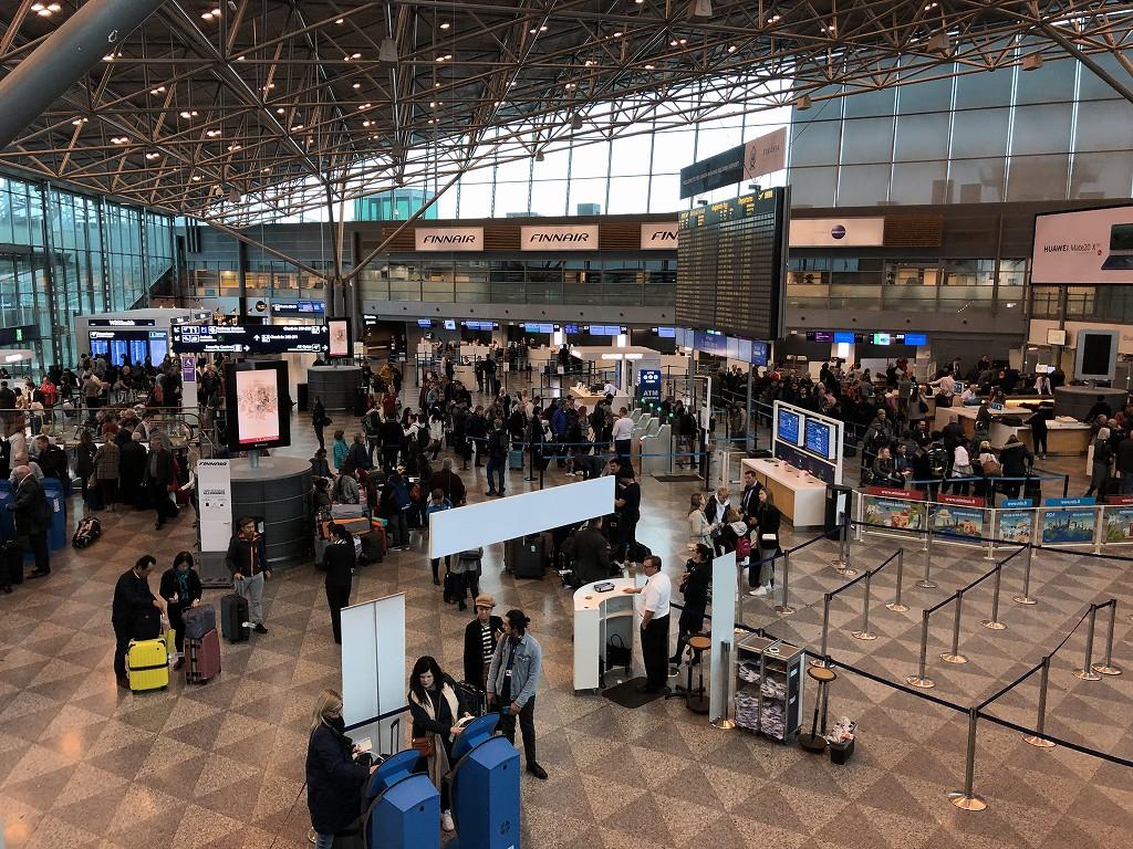 ヘルシンキヴァンター空港の内部