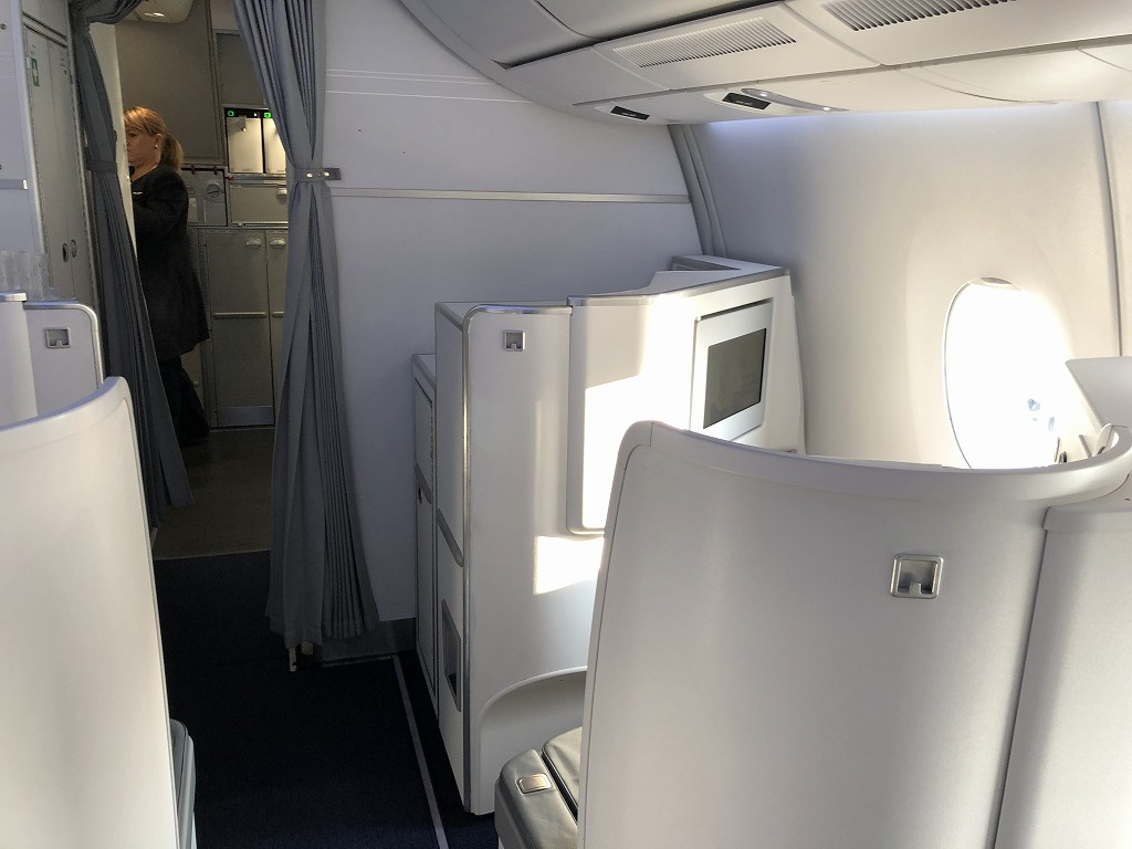 フィンエアーAY41便ビジネスクラスの座席1
