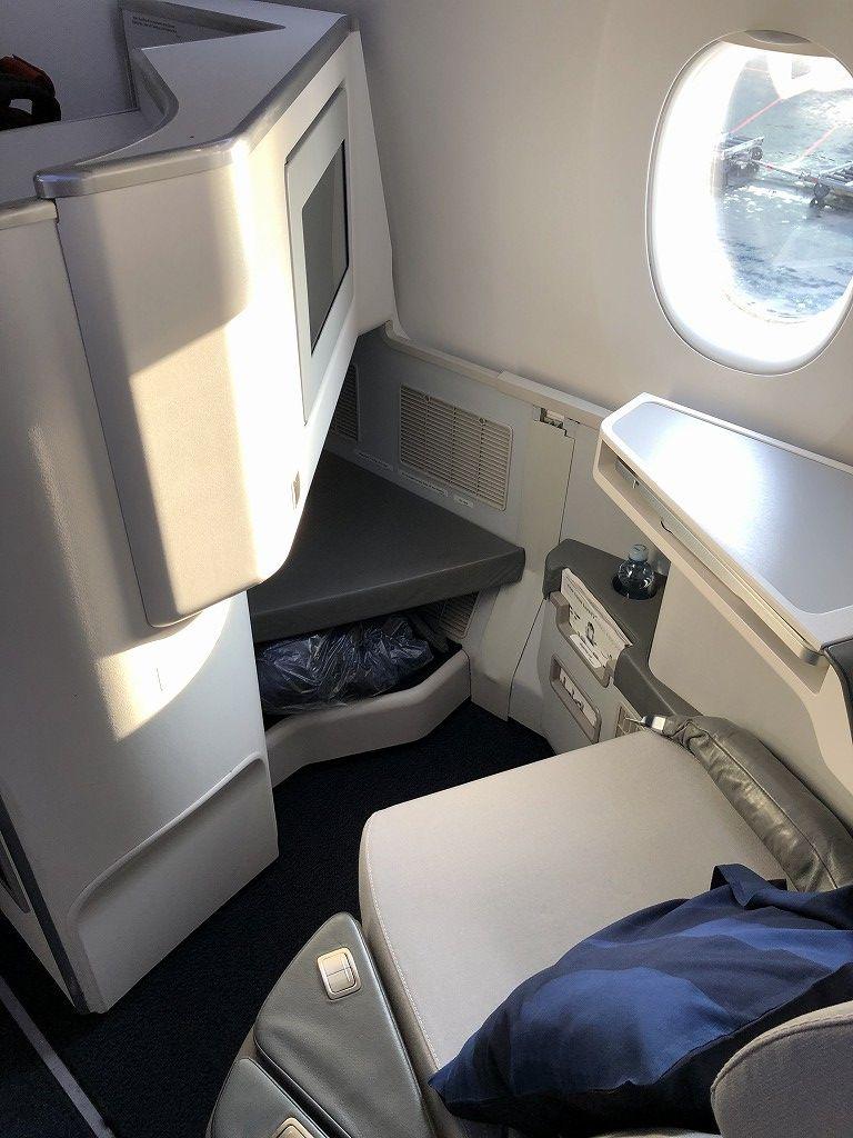 フィンエアーAY41便ビジネスクラスの座席3