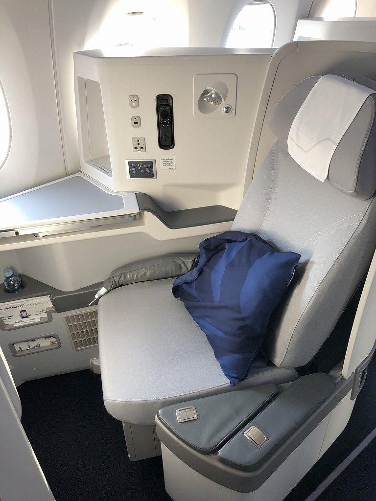 フィンエアーAY41便ビジネスクラスの座席2