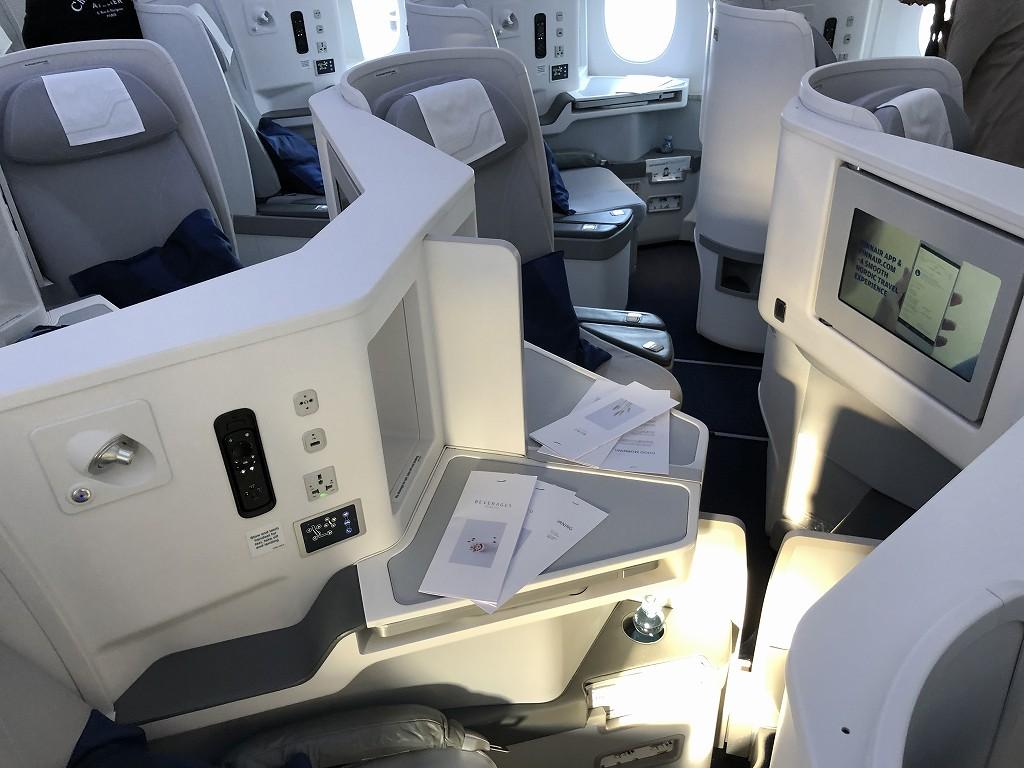 フィンエアーAY41便ビジネスクラスの座席5