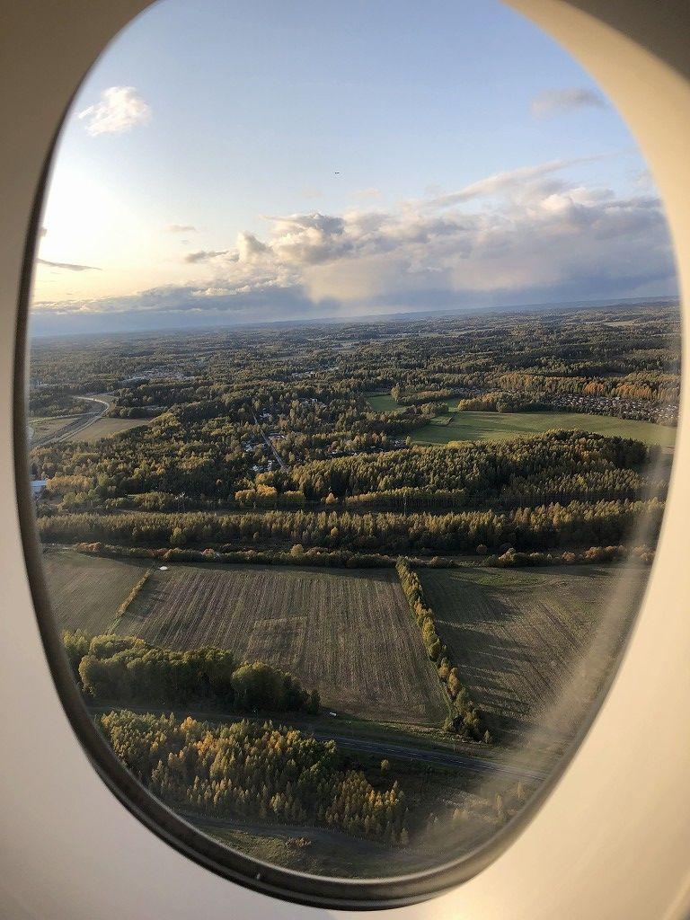 フィンエアーAY41便からヘルシンキの森