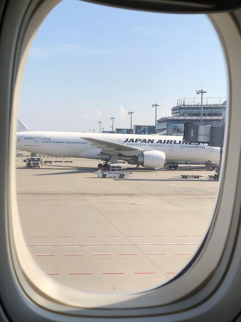JAL92便が羽田に到着