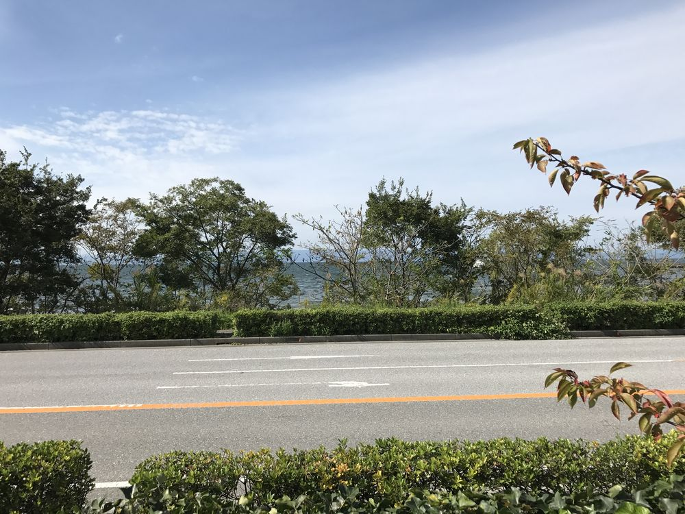 スターバックス カインズモール彦根店から琵琶湖2