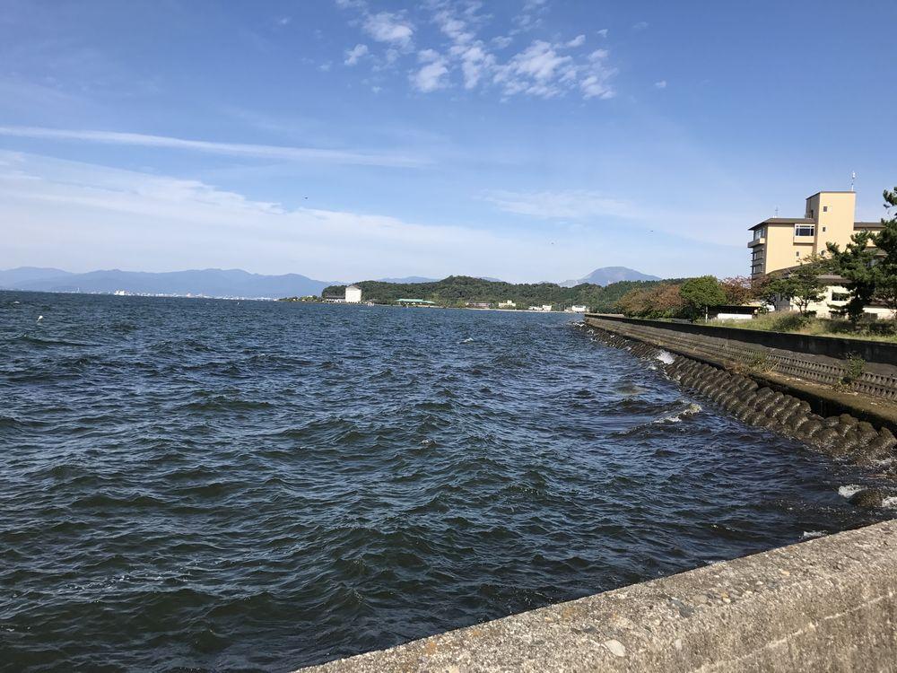 彦根港からの眺め