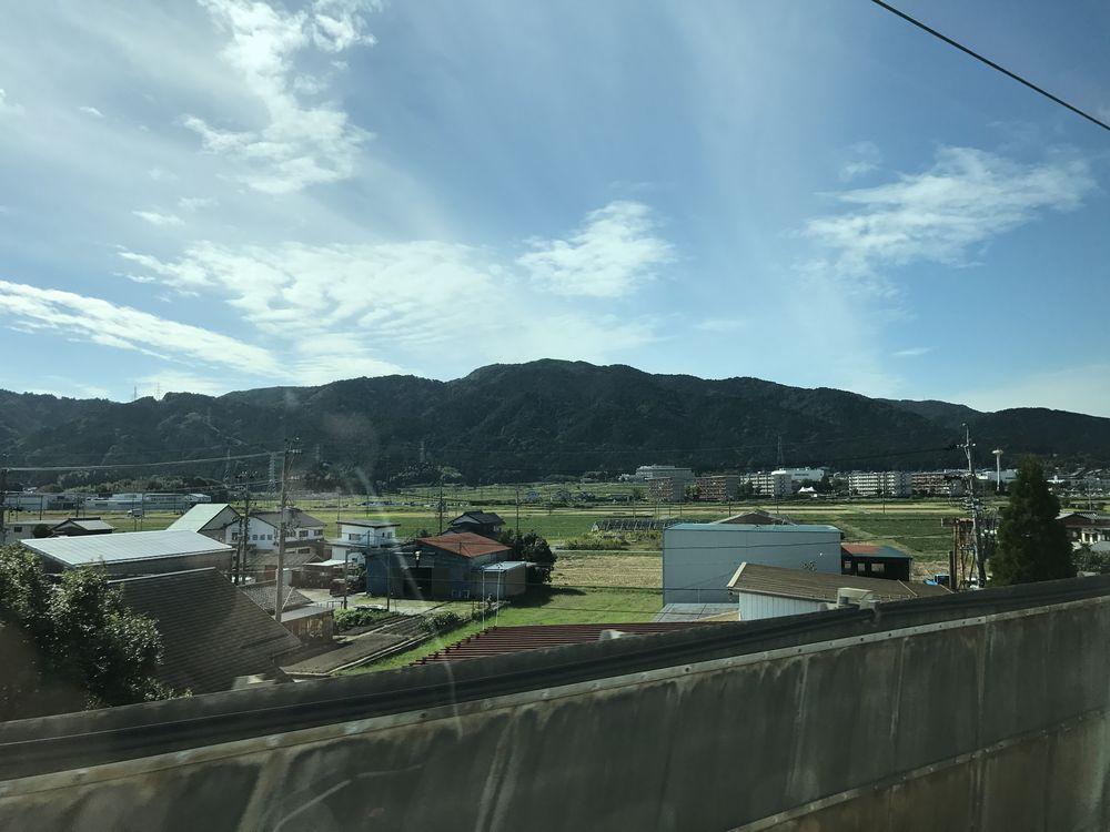 岐阜県から滋賀県への山脈