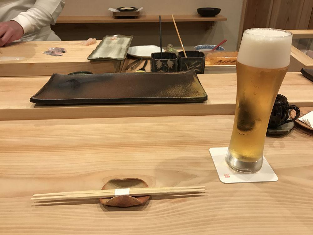 鮨 十兵衛のビール