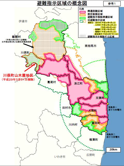 避難指示区域の概念図