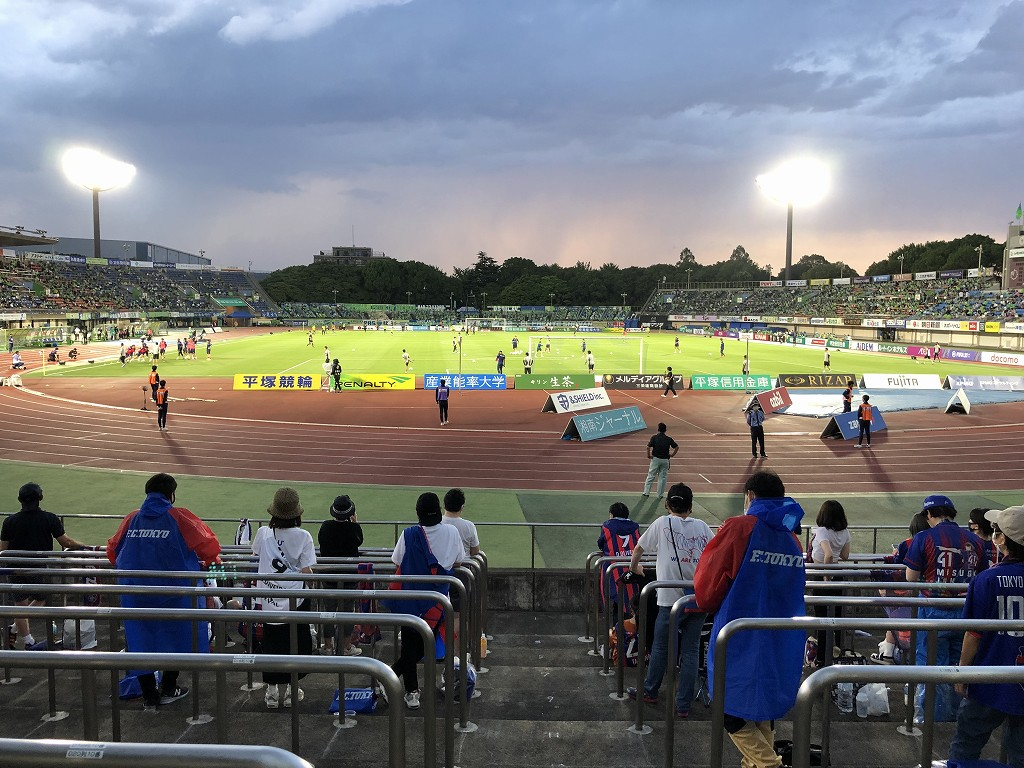 平塚のレモンガススタジアムでベルマーレvsFC東京戦1