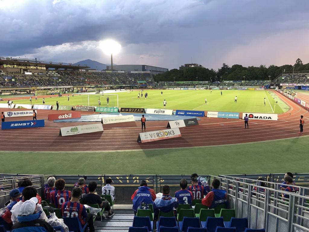 平塚のレモンガススタジアムでベルマーレvsFC東京戦2