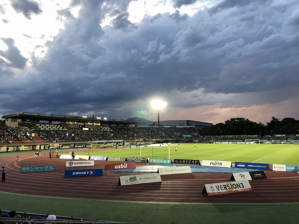 平塚のレモンガススタジアムでベルマーレvsFC東京戦3