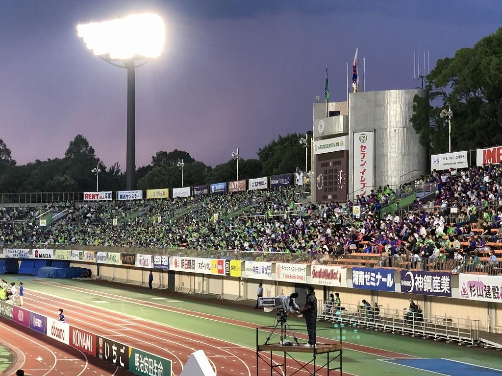 平塚のレモンガススタジアムの観客の入り