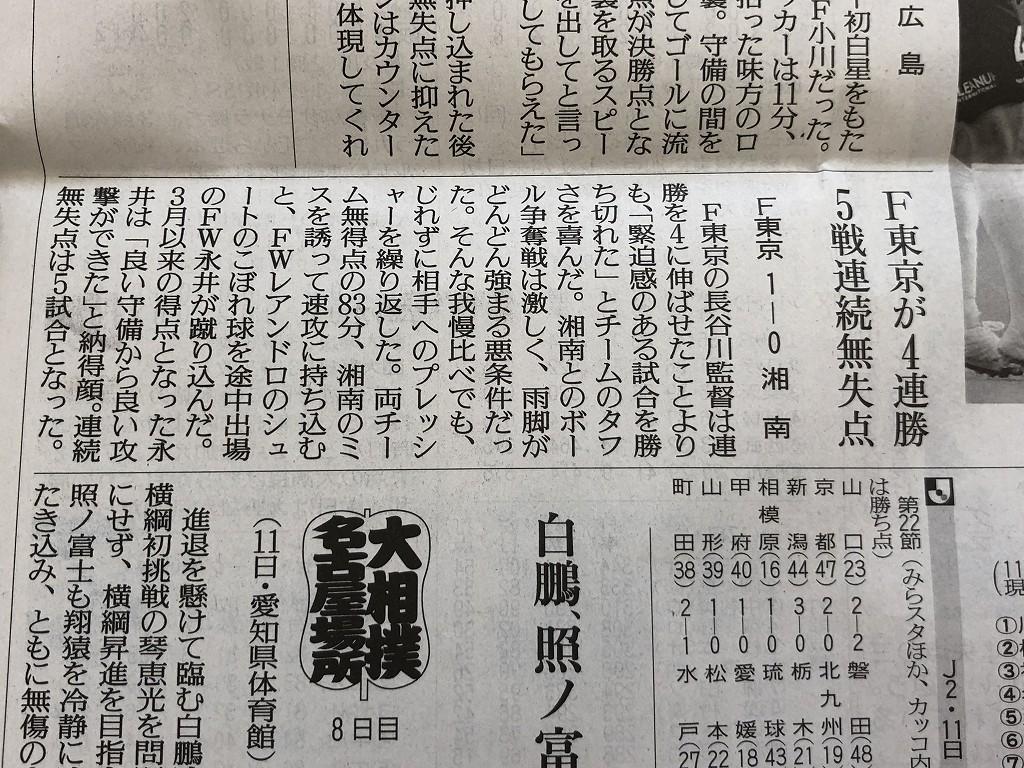 平塚のTHE HOURSで読売新聞を読む1