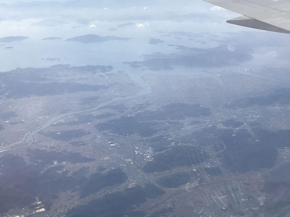 岡山市の海岸線