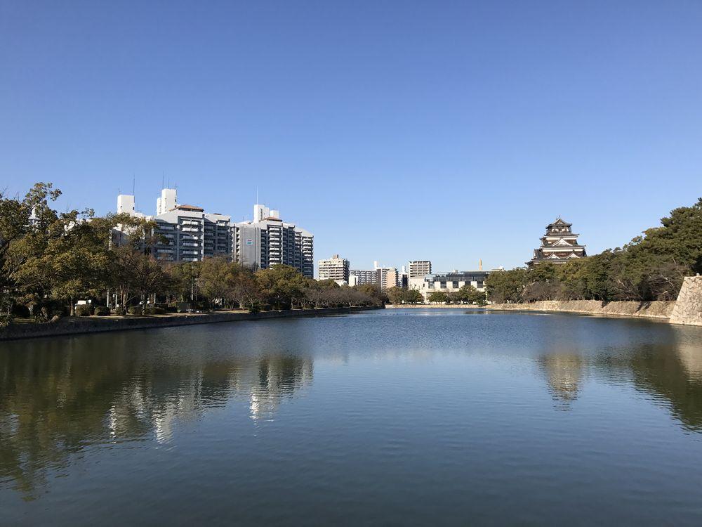 広島城から見た基町アパート