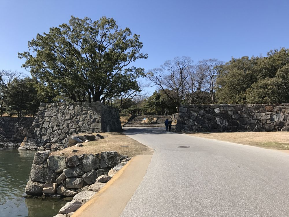 広島城の石垣