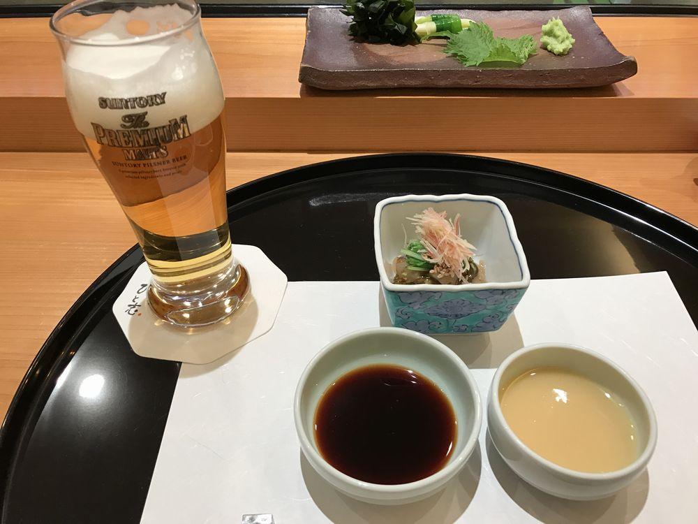 鮨処ひと志のビール