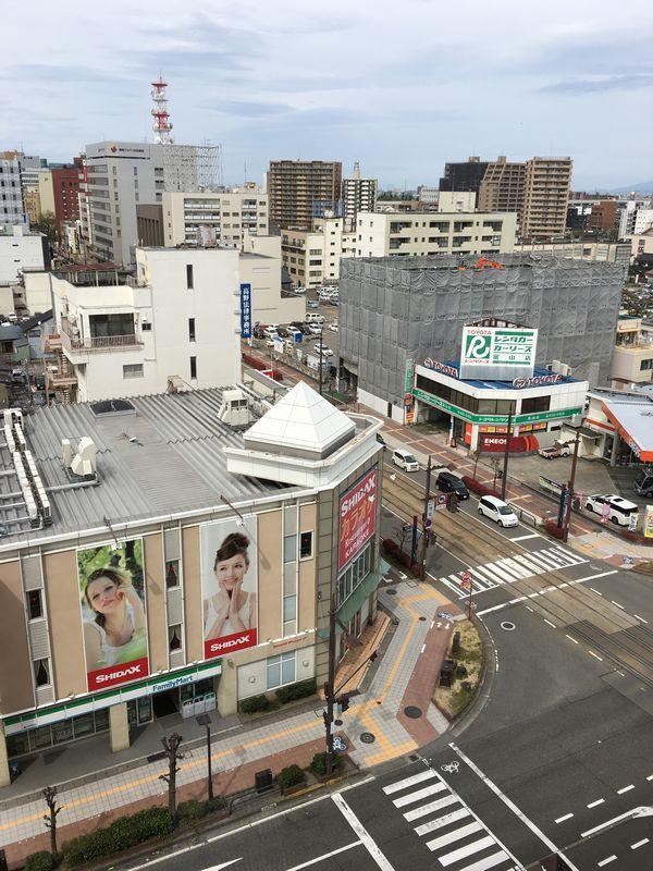 ダイワロイネットホテル富山からの景色