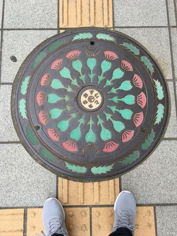 富山市のチューリップのマンホール