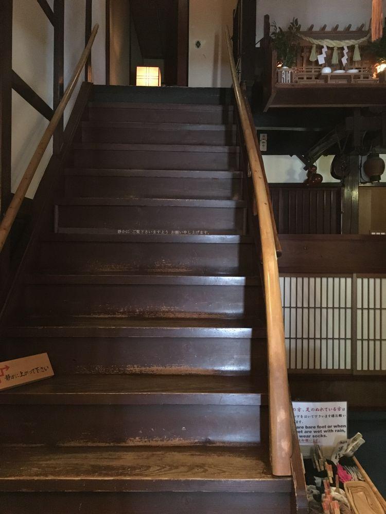 金沢のひがし茶屋街の志摩の階段