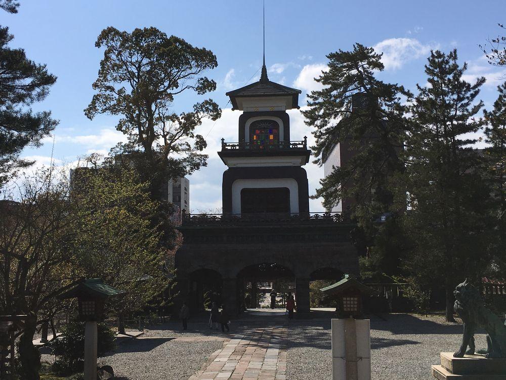 尾山神社のギヤマン