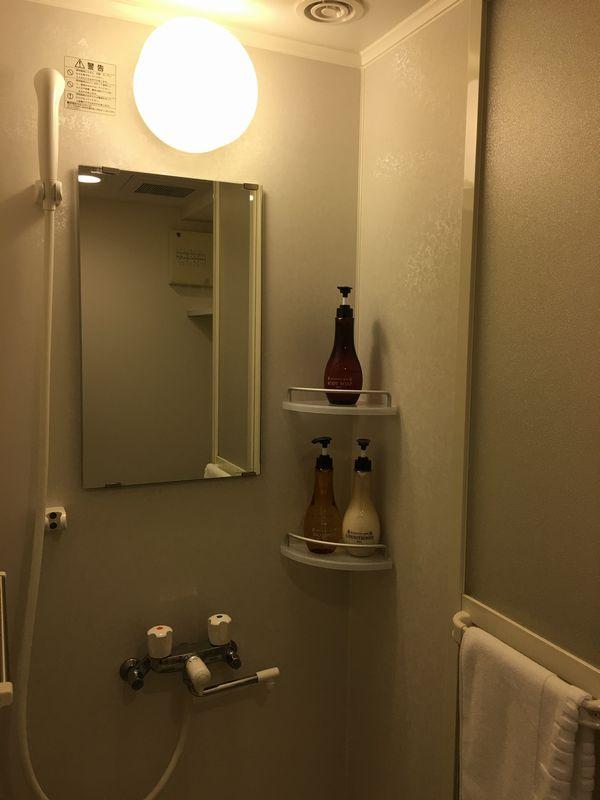 ドーミーイン金沢の禁煙クイーンルームのシャワー
