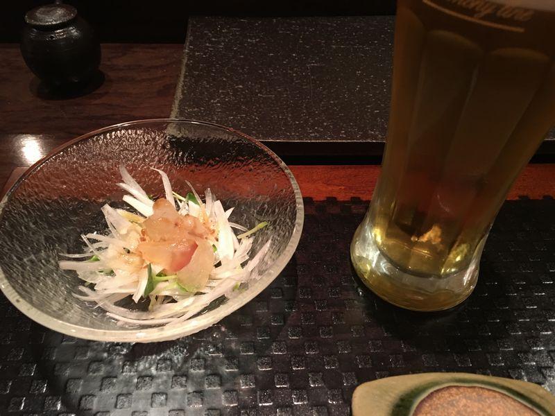 寿し処 佐々木のヒラメのサラダ