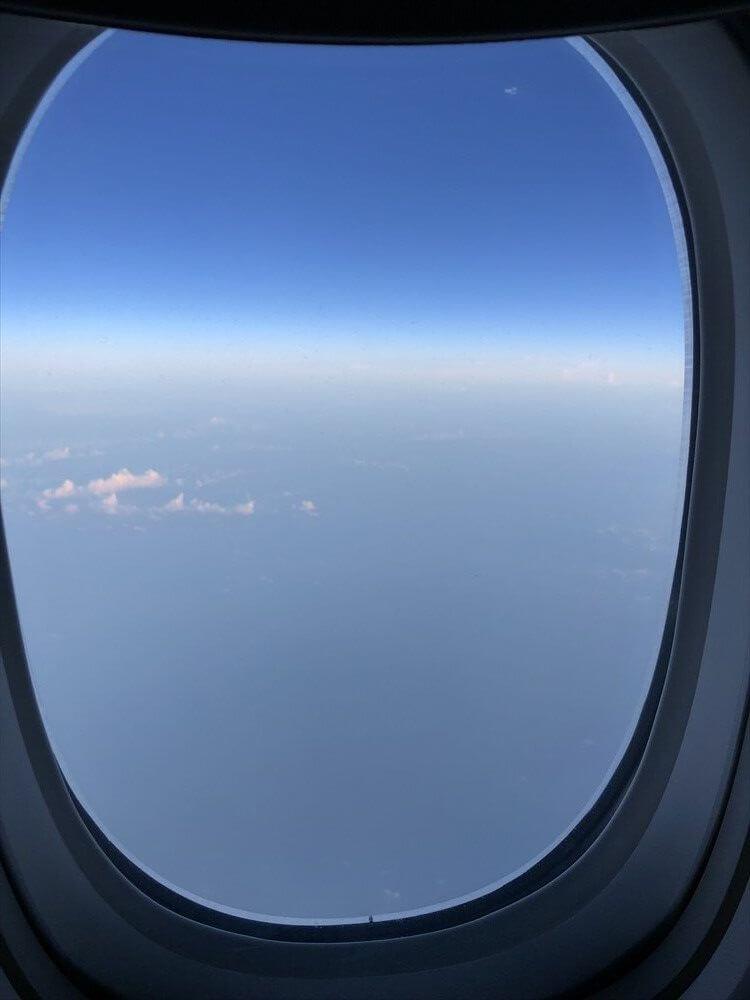 台湾上空の青空