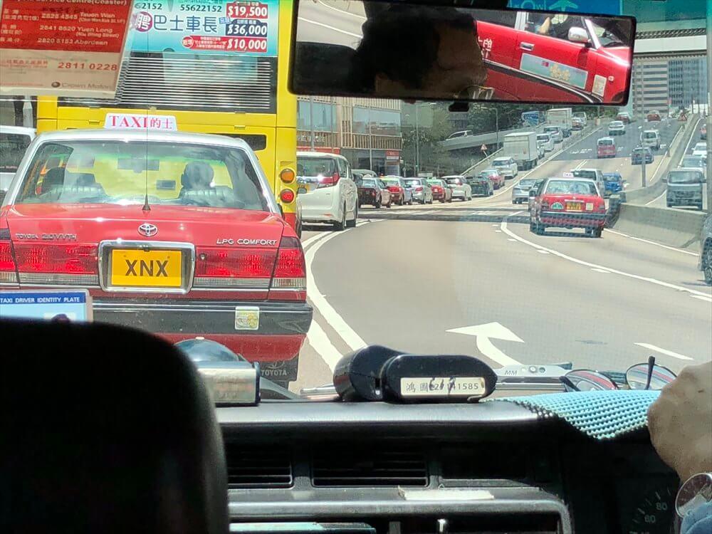香港のタクシー乗車