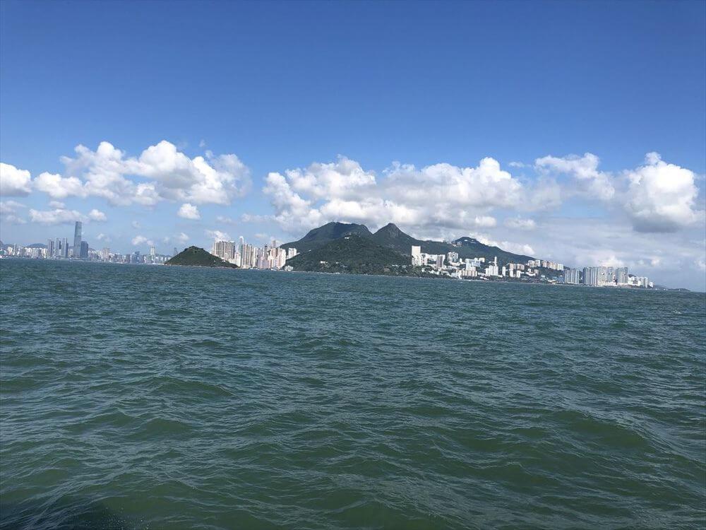フェリーから香港島