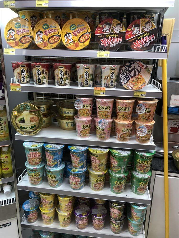 香港のコンビニのカップ麺