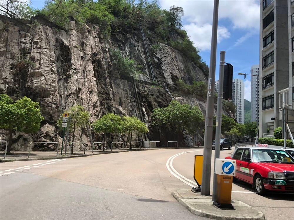 香港島の崖