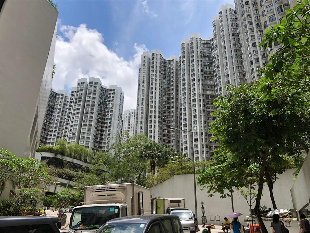 香港島の高層団地1