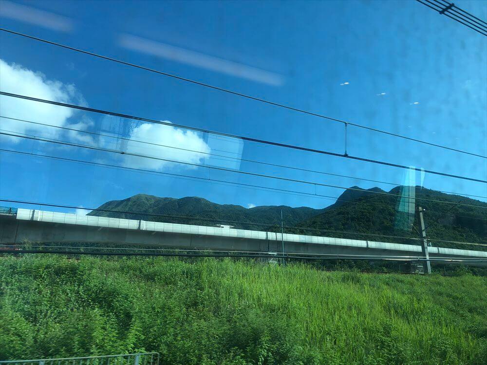 香港のMTRの車窓風景