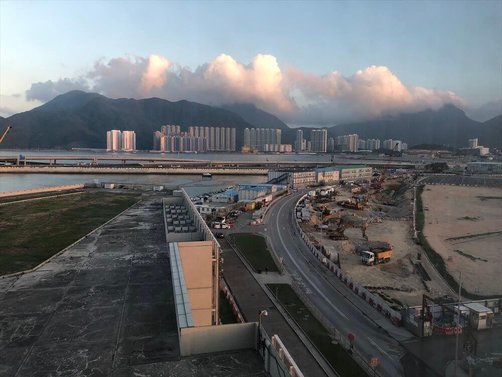 香港スカイシティマリオットホテルのエグゼクティブ オーシャンビュー・スイートからの眺め2
