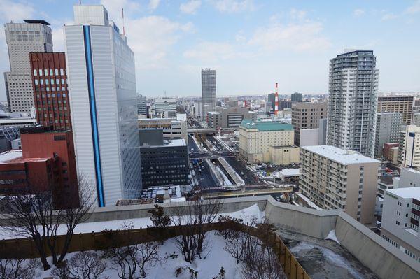 ホテルモントレエーデルホフ札幌デラックスコーナーツインルームからの眺望画像