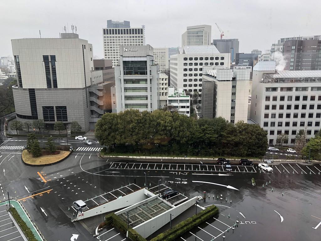 ホテルニューオータニ「新江戸スタンダードダブル」からの眺め