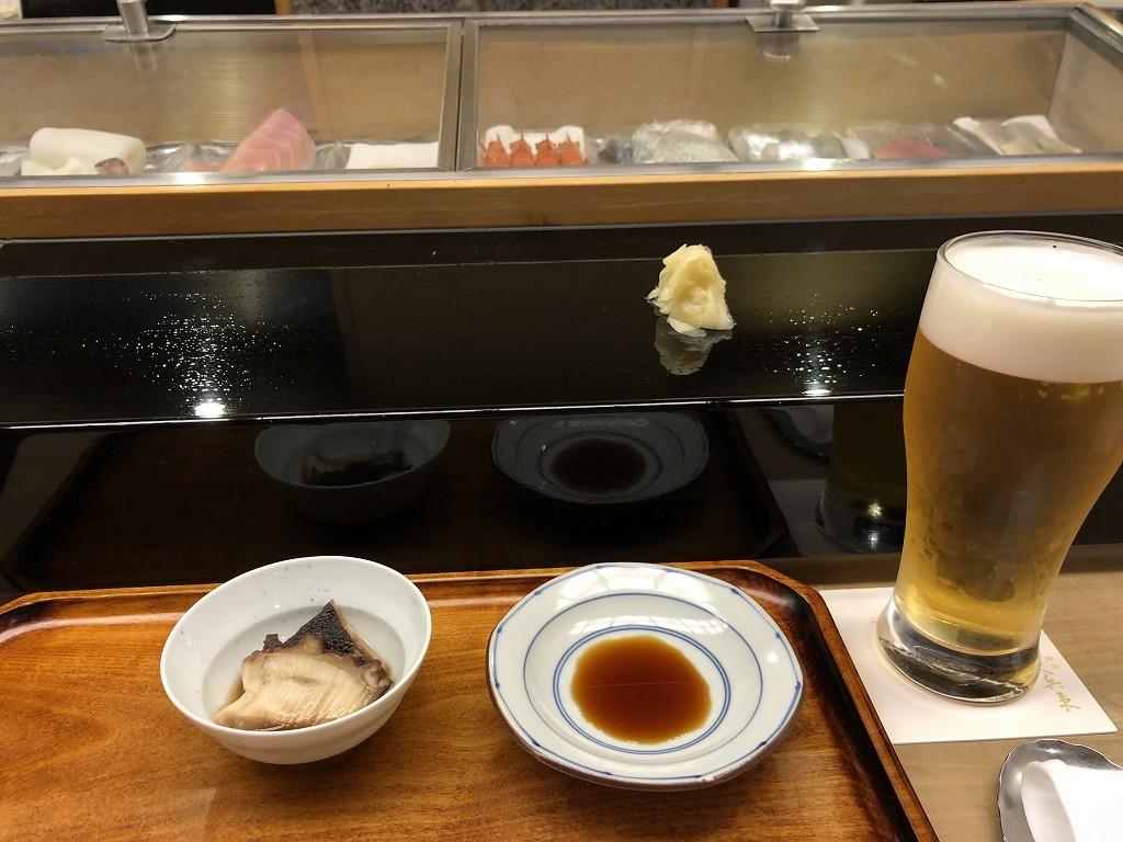 ホテルニューオータニ タワー館「久兵衛」で寿司1