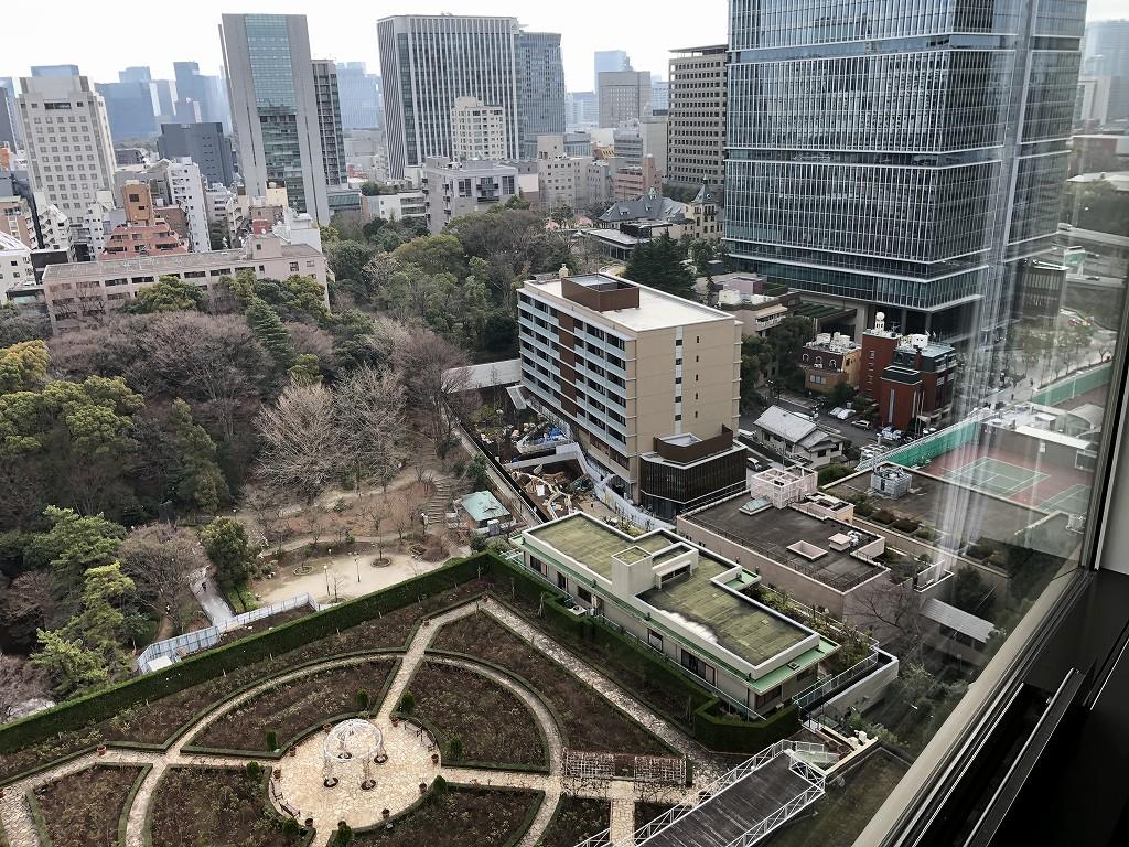 ホテルニューオータニ16階から紀尾井町ガーデンテラス