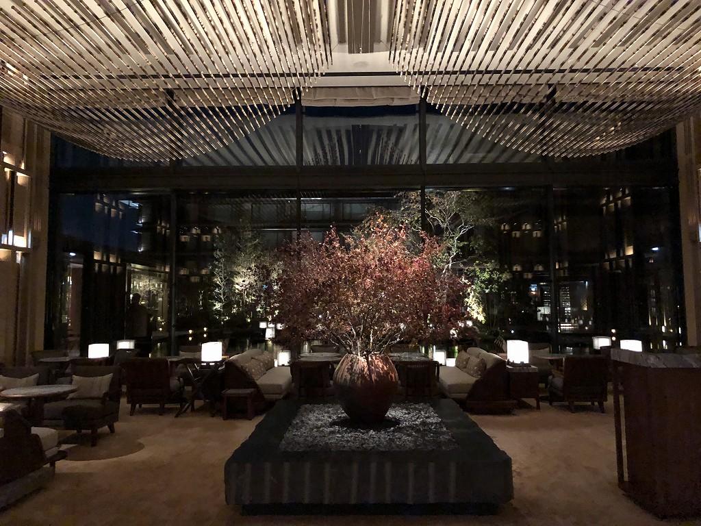 HOTEL THE MITSUI KYOTOの夜のラウンジ2