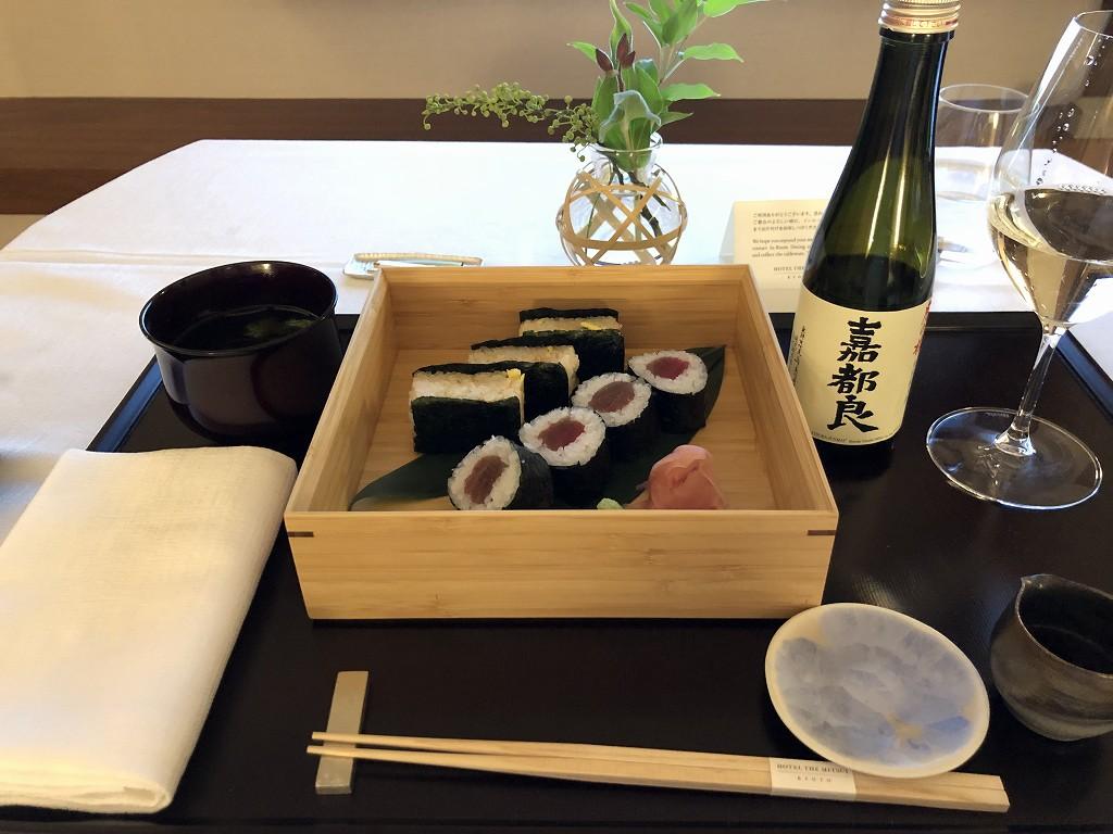 HOTEL THE MITSUI KYOTOのインルームダイニングで晩飯3