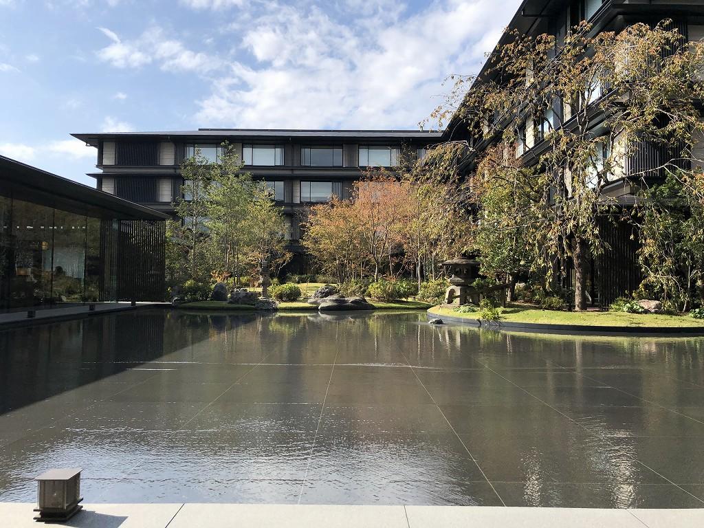 HOTEL THE MITSUI KYOTOの中庭(晴天)2