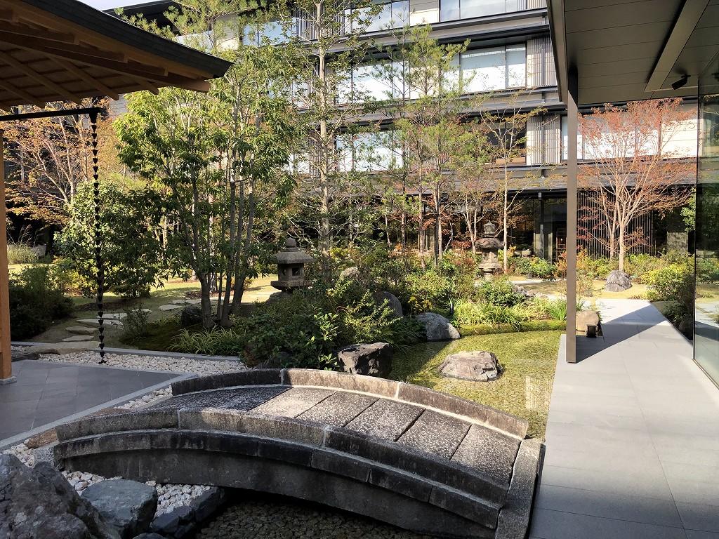 HOTEL THE MITSUI KYOTOの中庭(晴天)3