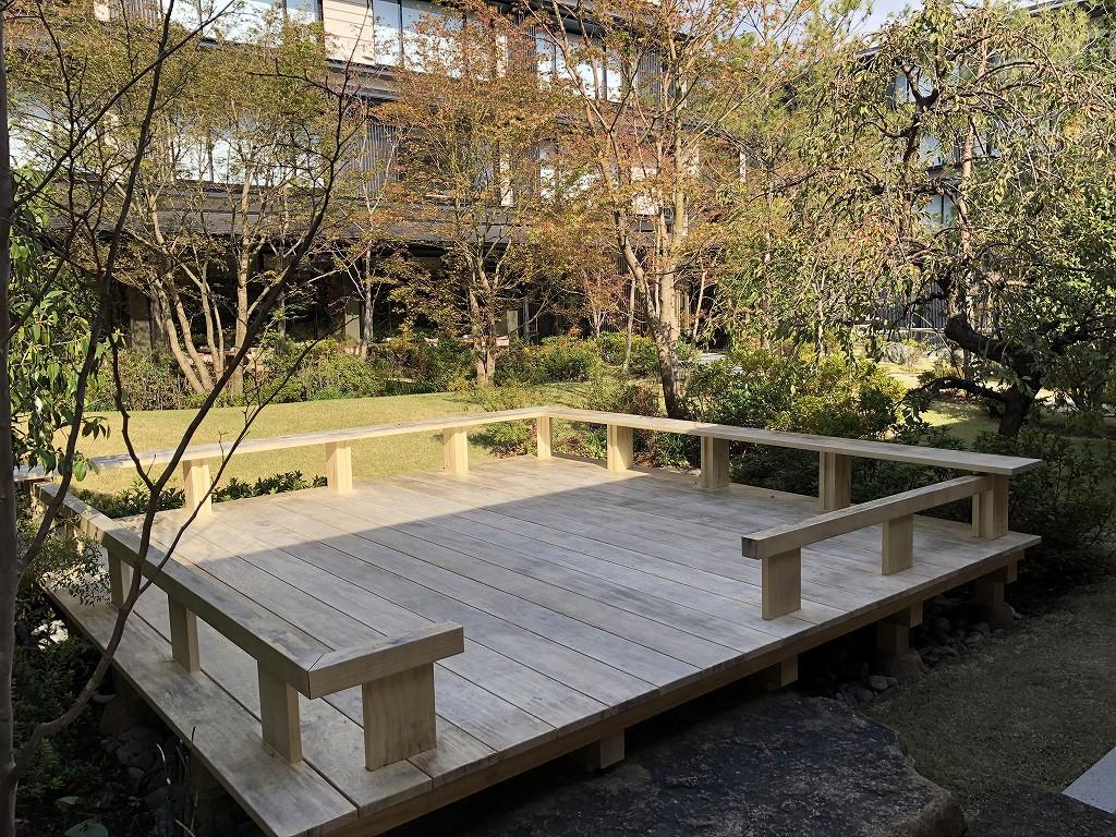 HOTEL THE MITSUI KYOTOの中庭(晴天)4