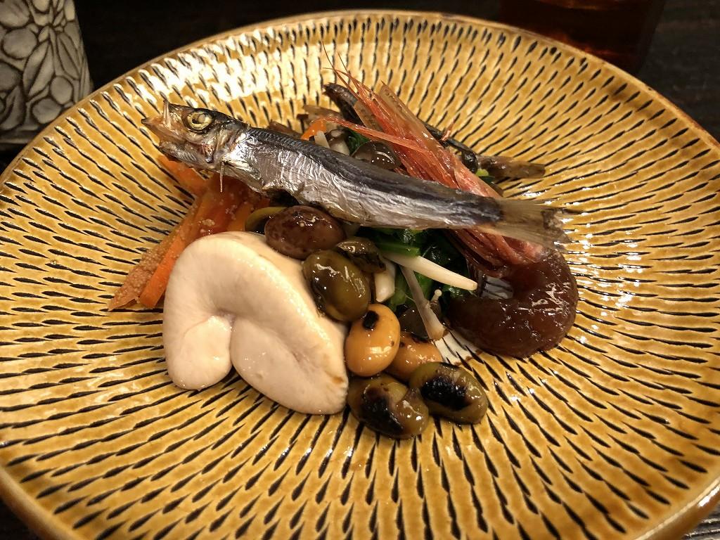 京都の乍旨司のアテ盛り