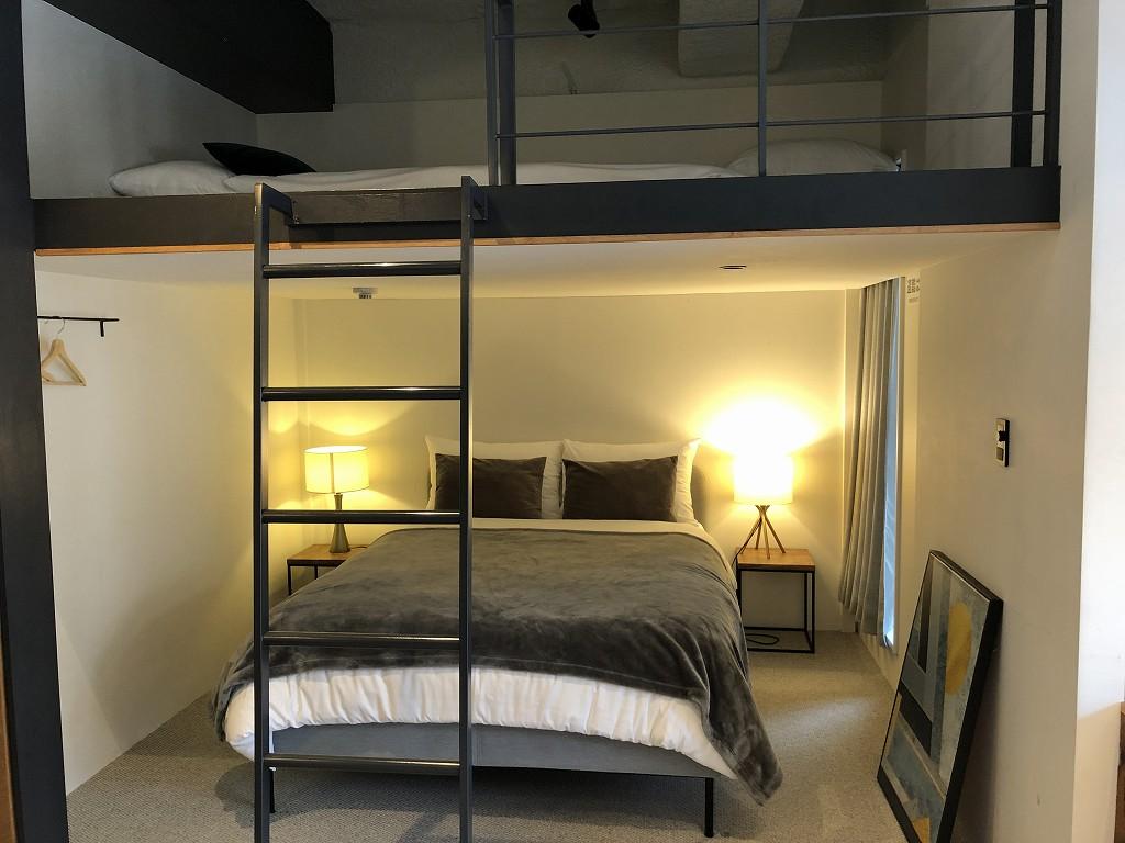 illi Shimokitazawaの301号室のベッド