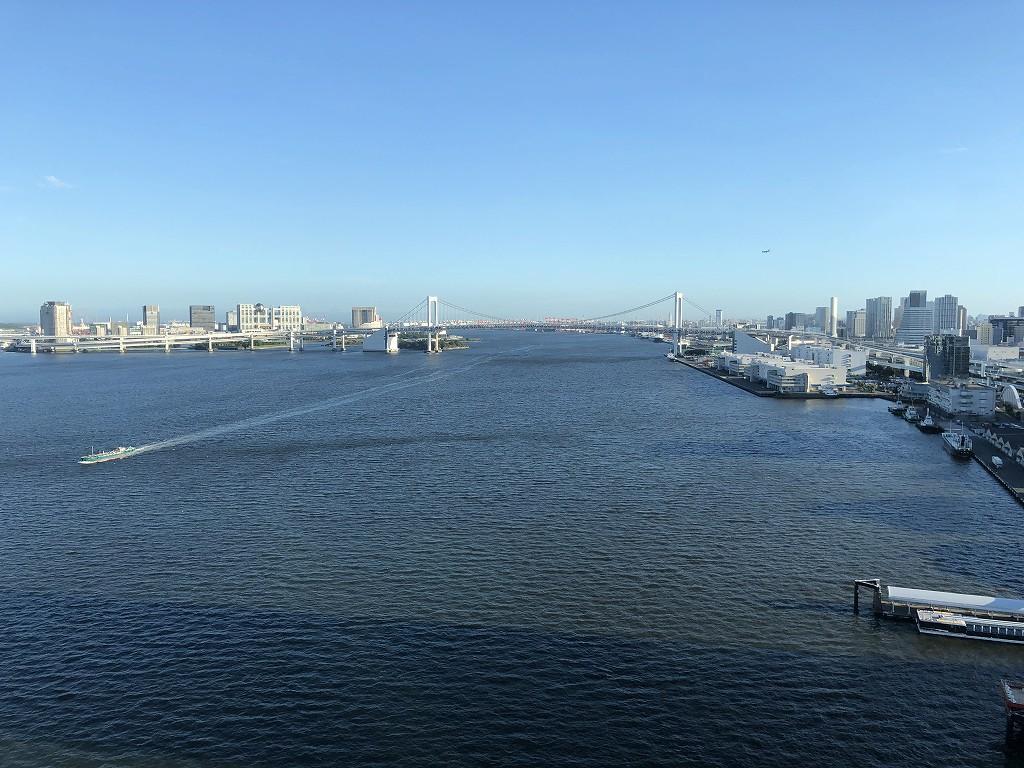 ホテルインターコンチネンタル東京ベイからの景色