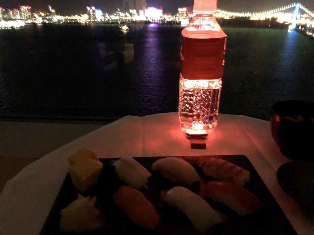 ホテルインターコンチネンタル東京ベイのインルームダイニング(寿司)2