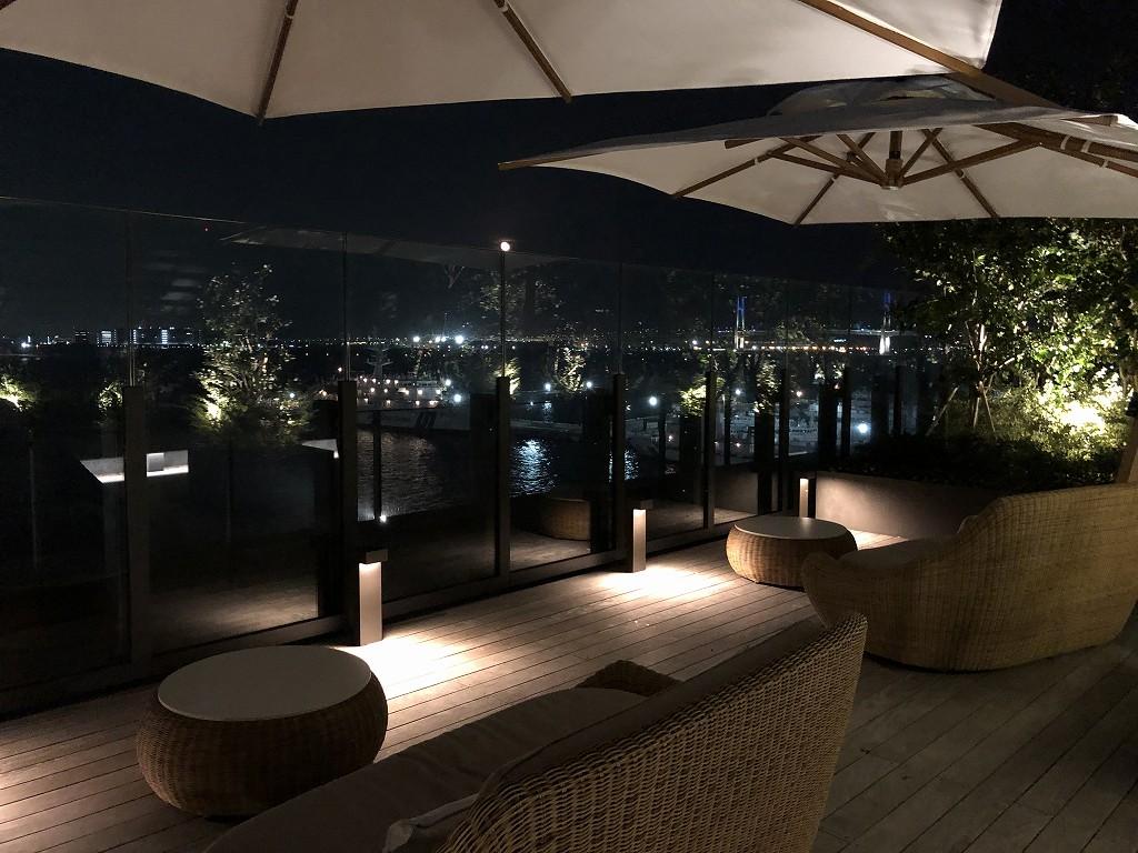 インターコンチネンタル横浜Pier8のルーフトップ(夜)3